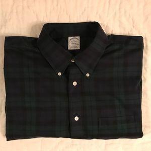 Brooks Brothers Black Watch Dress Shirt - Size XXL